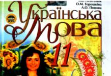 Скачати  Українська мова  11           Пентилюк М.І. Горошкіна О.М. Попова Л.О.     Підручники Україна