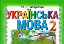 Скачати  Українська мова  2           Захарійчук М.Д.       Підручники Україна