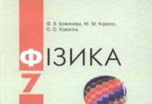 Скачати  Фізика  7           Божинова Ф.Я. Кірюхін М.М. Кірюхіна О.О.     ГДЗ Україна