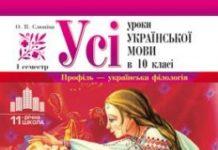Скачати  Українська мова  10           Слюніна О.В.       Підручники Україна