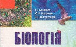 Скачати  Біологія  8           Базанова Т.І. Павіченко Ю.В. Шатровський О.Г.     ГДЗ Україна