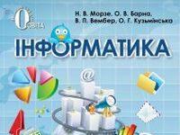 Скачати  Інформатика  7           Морзе Н.В. Барна О.В. Вембер В.П. Кузьмінська О.Г.    ГДЗ Україна
