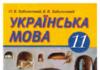 Скачати  Українська мова  11           Заболотний О.В. Заболотний В.В.      Підручники Україна