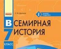 Скачати  Всемирная история  7           Д'ячков С.В.       Підручники Україна