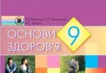 Скачати  Основи здоров'я  9           Бойченко Т.Є. Василашко И.П. Коваль Н.С.     Підручники Україна