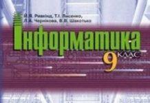 Скачати  Інформатика  9           Ривкінд Й.Я. Лисенко Т.І. Чернікова Л.А. Шакотько В.В.    Підручники Україна