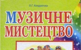 Скачати  Музичне мистецтво  5           Кондратова Л.Г.       Підручники Україна