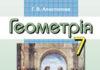 Скачати  Геометрія  7           Апостолова Г.В.       Підручники Україна