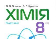 Скачати  Хімія  8           Попель П.П. Крикля Л.С.      Підручники Україна