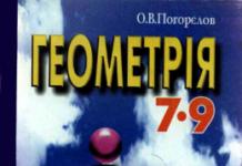 Скачати  Геометрія  9           Погорєлов О.В.       Підручники Україна